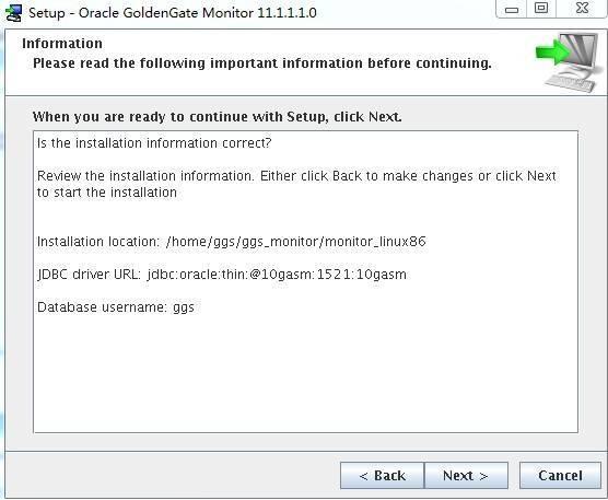 Goldengate monitor v11.1 Install for LinuxX86插图(11)