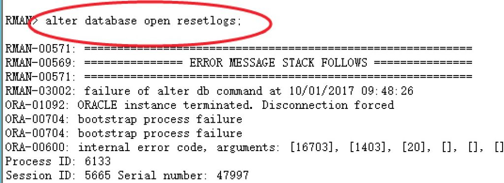 数据库被注入恶意攻击程序的案例恢复(ORA-16703)插图