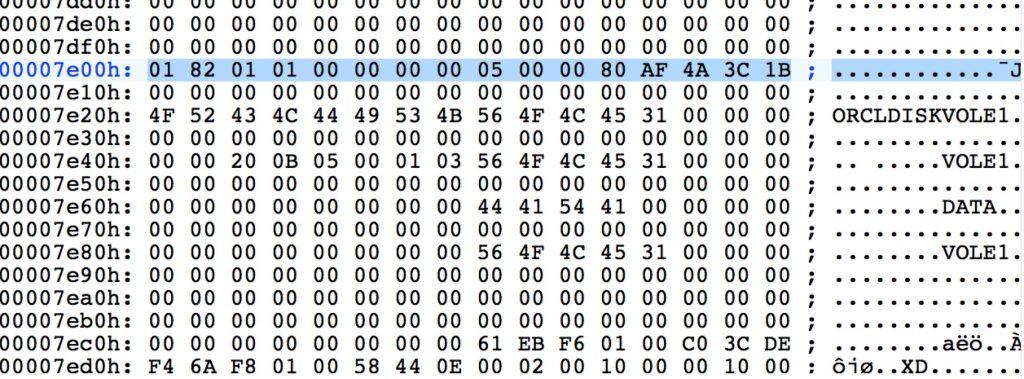 ASM 磁盘分区信息丢失的恢复案例插图(1)